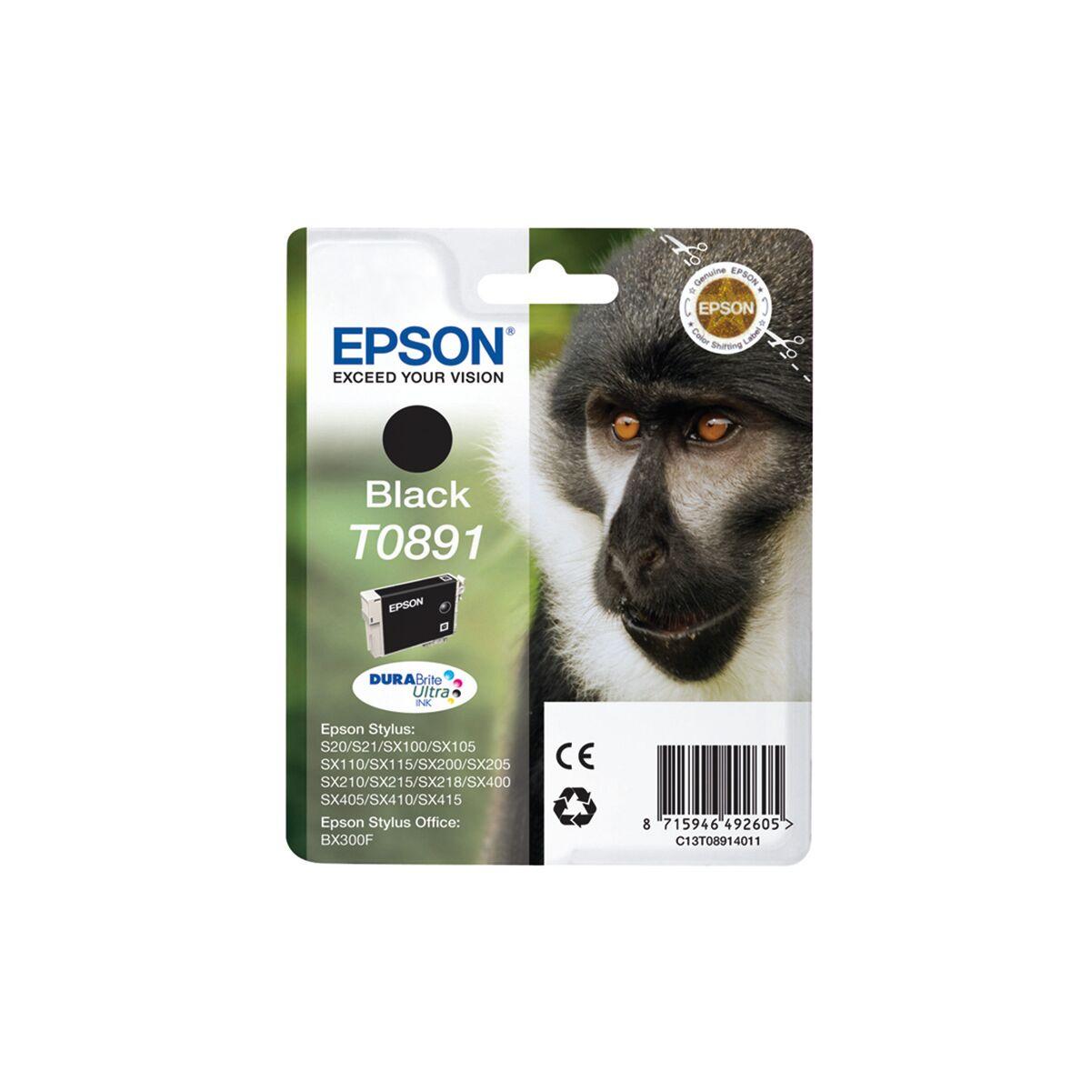 Cartouche Imprimante Epson «babouin» - T0891 Noir