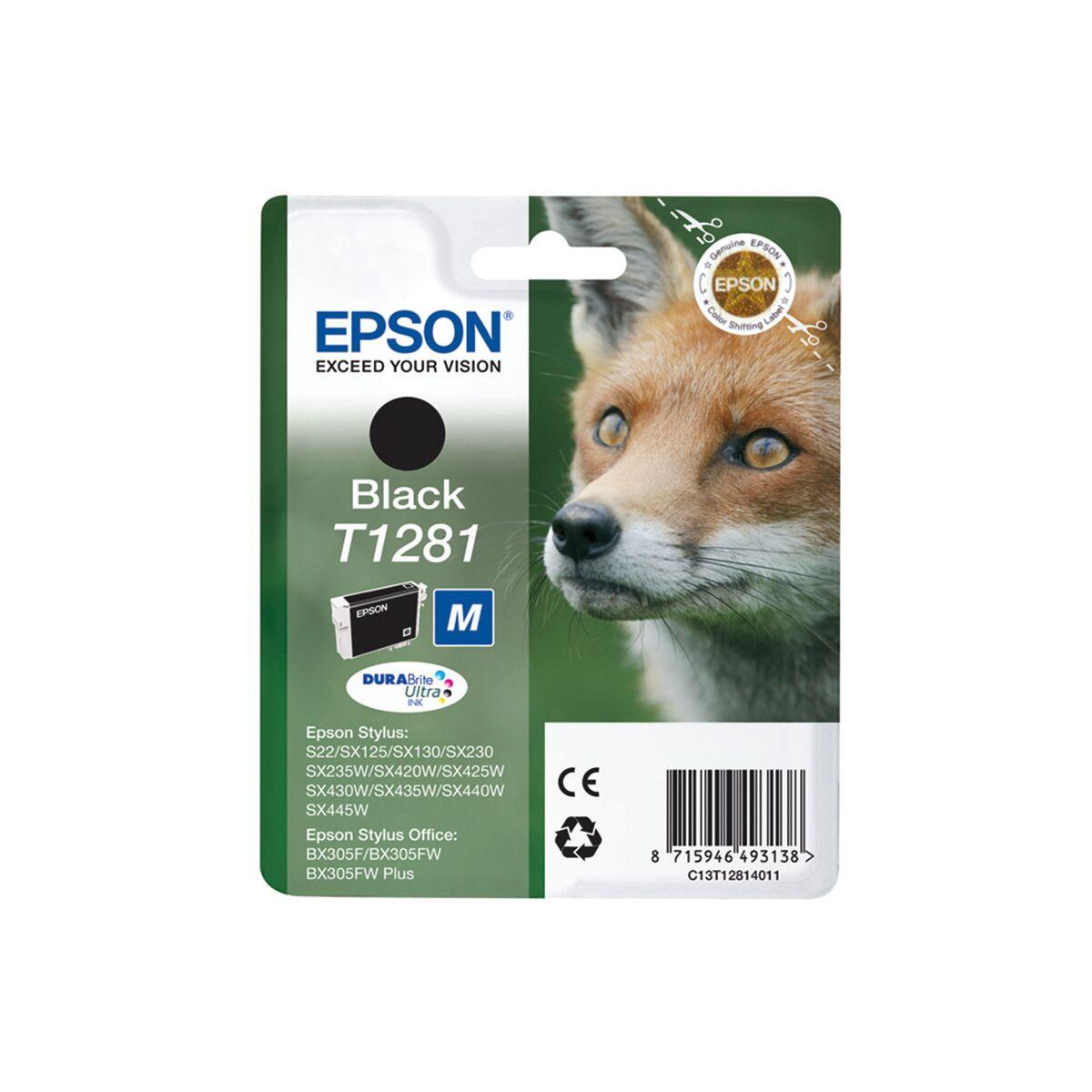 Cartouche Imprimante Epson «renard» - T1281 Noir