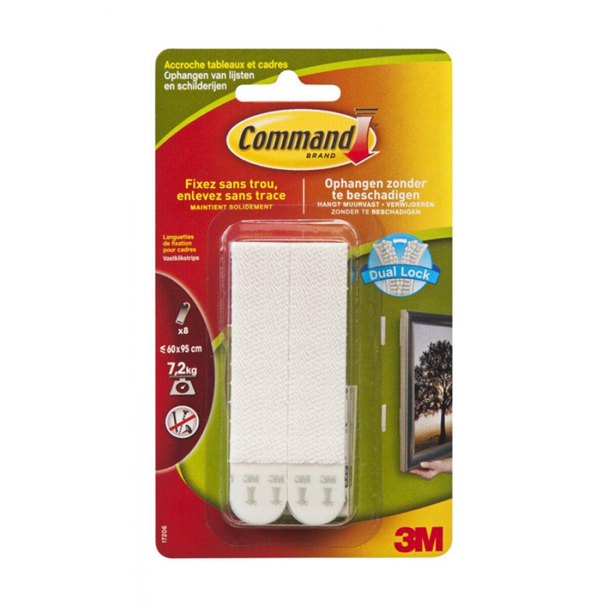 Languettes Command™ Pour Accrochage De Tableaux - 4 X 2 Languettes Larges - 7,2 Kg