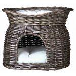 trixie  Trixie Panier osier gris avec lit au dessus pour chat Le panier... par LeGuide.com Publicité
