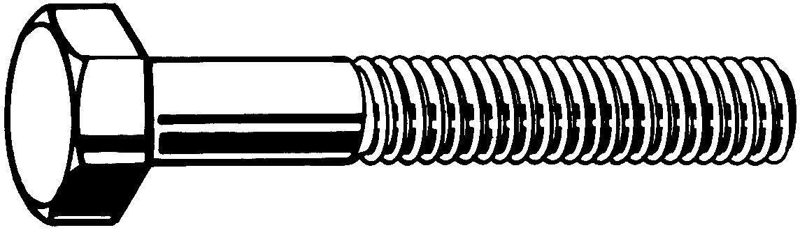 Fabory Hexagon head bolt UNC ASME B18.2.1 Acier SAE J429 Electro zingué passivé jaune Gr.8 1.1/2-6X6 Inch