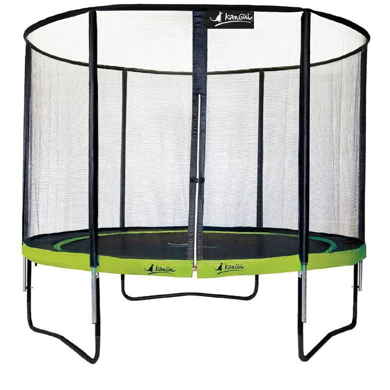 Kangui - Trampoline de jardin rond 305 cm + filet de sécurité PUNCHI