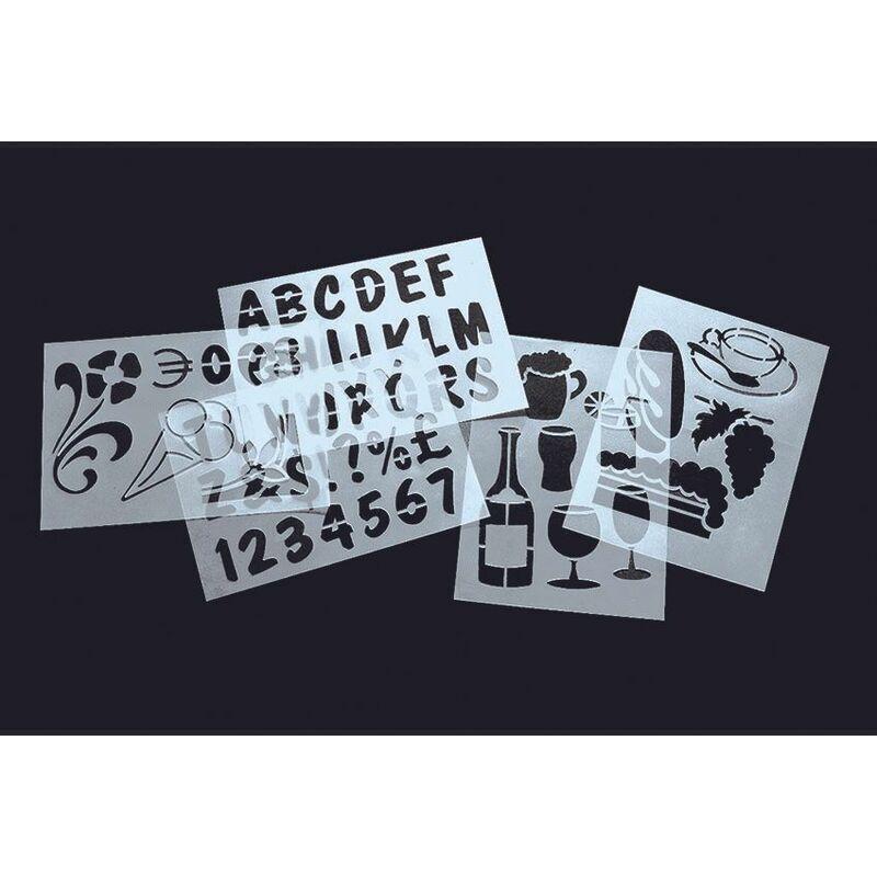 SECURIT pochoirs ardoise - Transparent - 32 - Transparent - SECURIT