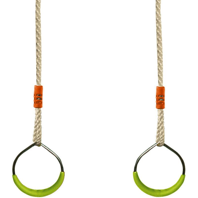SOULET Paire d'anneaux en acier - Accessoire balançoire