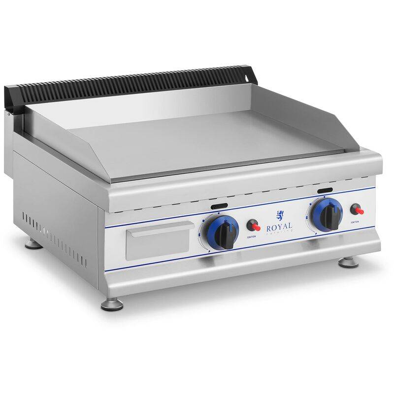 Royal Catering - Plancha Snacker Inox Plaque Cuisson Fonte Grill Ve