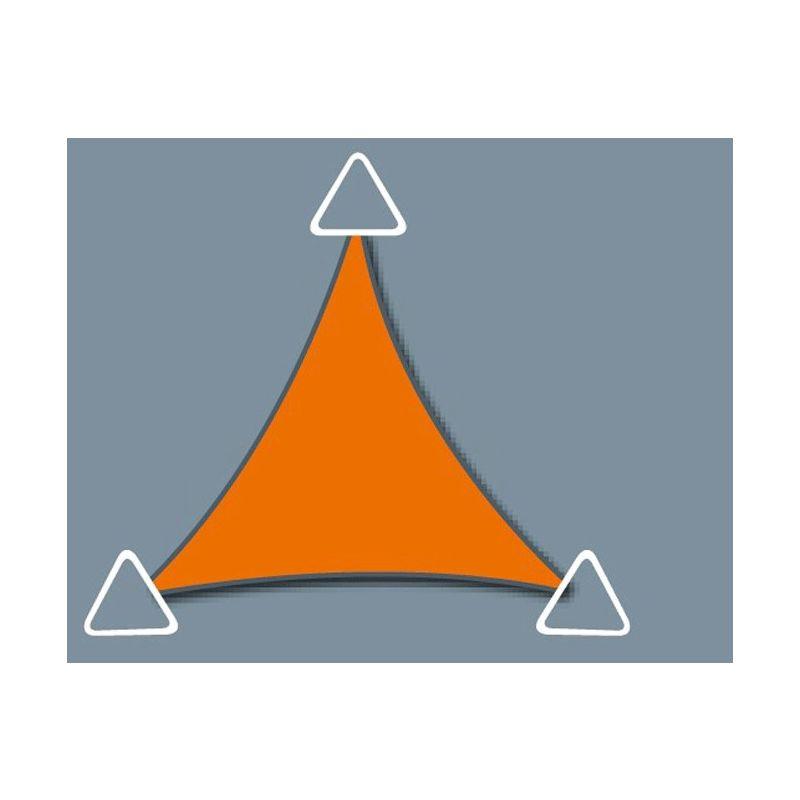 DIRECT FILET Voile d'ombrage imperméable de 5.9x5.9x5.9m format triangle à tendre