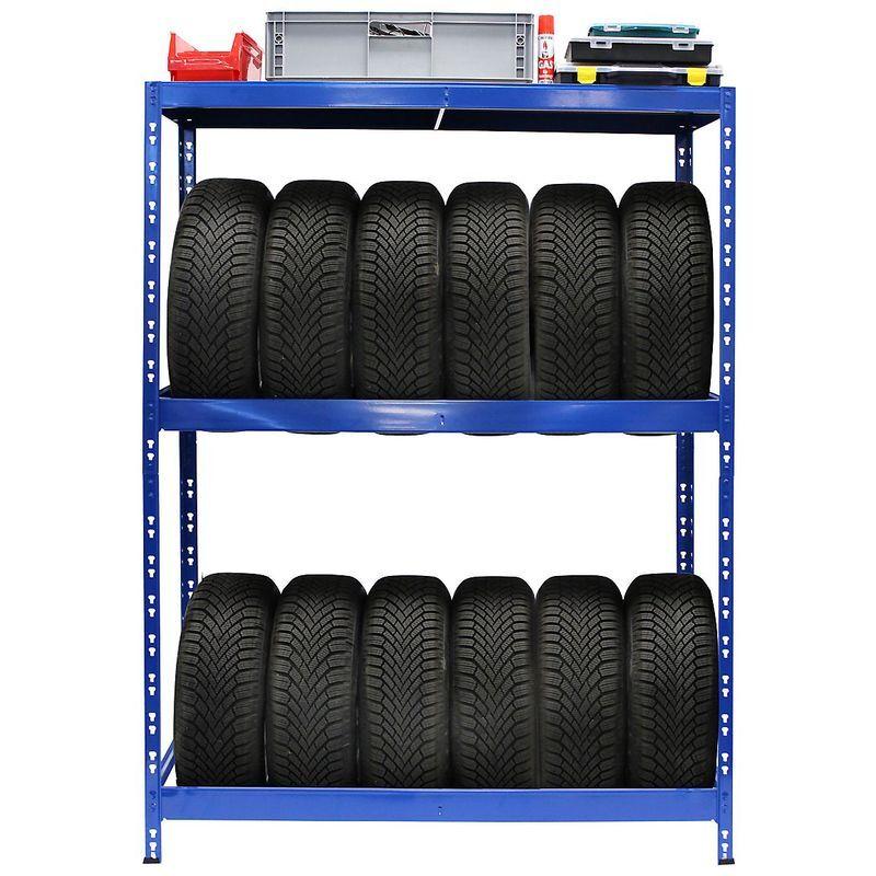 CERTEO Rayonnage pour pneus   HxLxP 180 x 130 x 50 cm   Jusqu'à 12 pneus