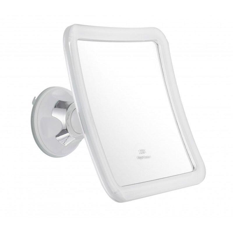 PRADEL Miroir Grossissant à ventouse (X5) - Blanc - Carré : 16 x 16 cm - Blanc