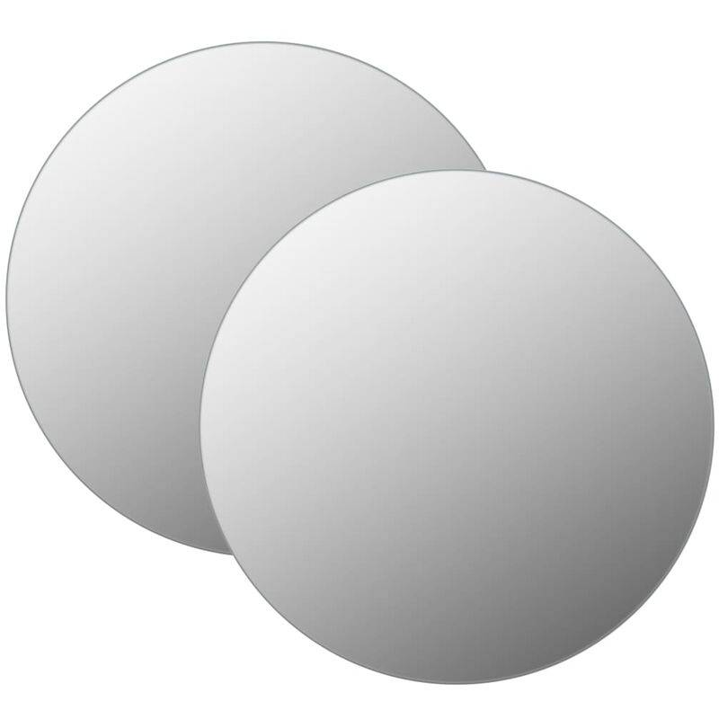 YOUTHUP Miroirs muraux 2 pcs 70 cm Rond Verre