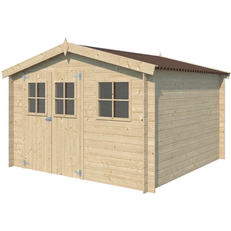 GARDENAS Chalet en bois 8.70 m² Malmo Sans option - Rouge (couverture)