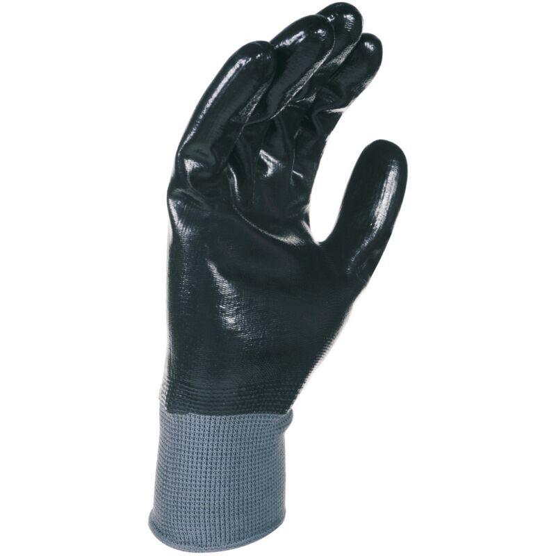 SINGER FRERES SINGER - Paire de gants nitrile tout enduit - Support polyester - Jauge
