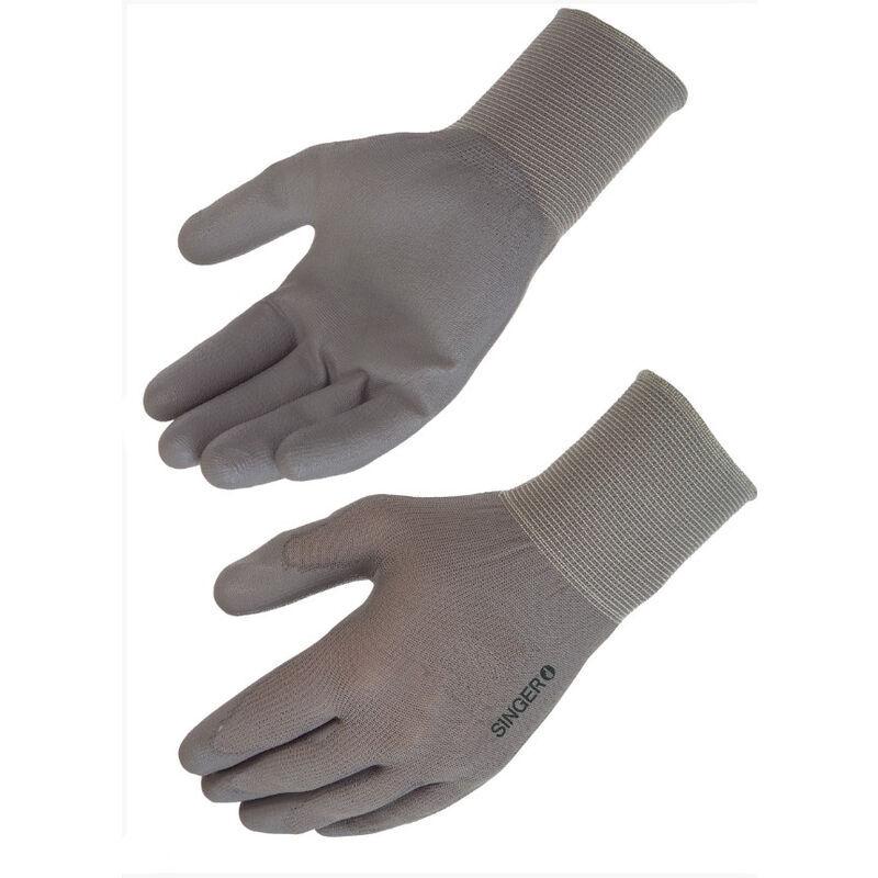 SINGER FRERES SINGER - Paire de gants polyuréthane (PU), support polyamide - Jauge 15