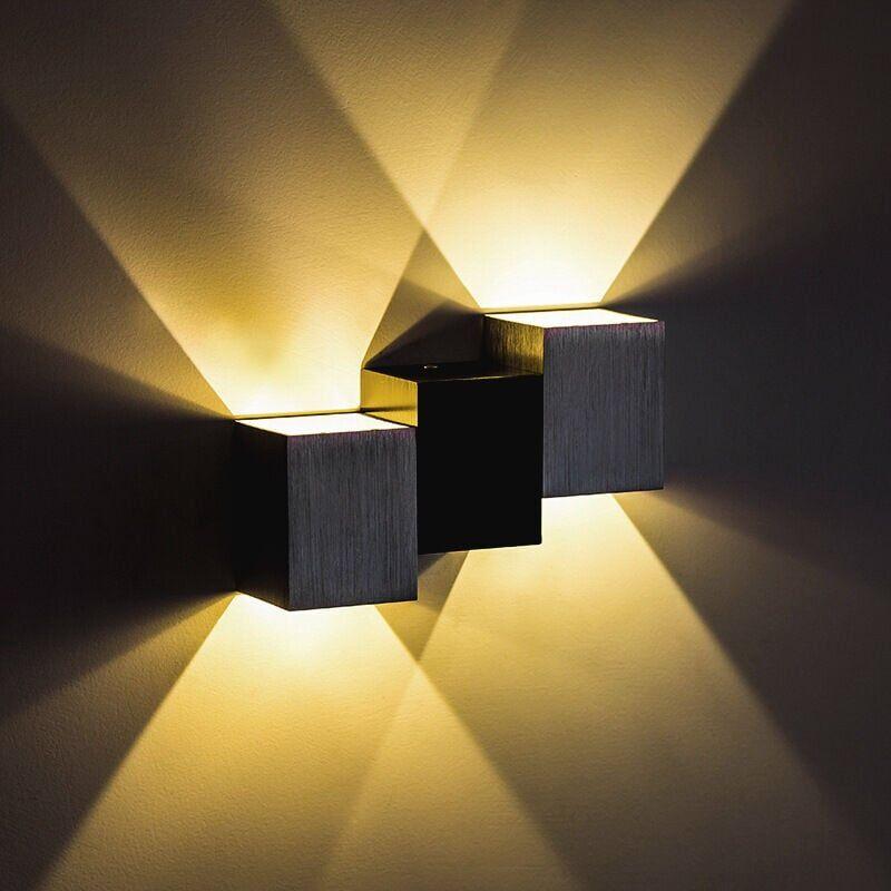 STOEX Applique Murale Interieur 6W Moderne LED Éclairage Mural Lumières Blanc