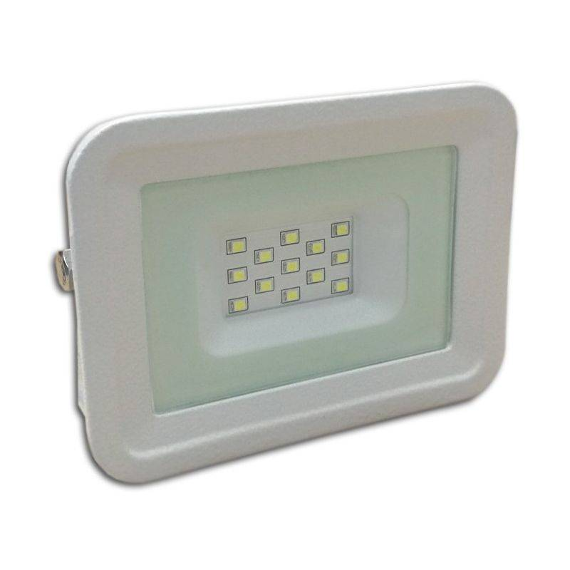 LAMPESECOENERGIE LED Projecteur Lampe 10W Blanc 6000K IP65 Extra Plat