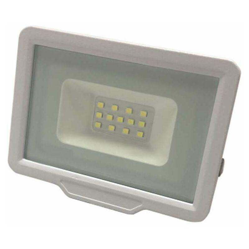OPTONICA Projecteur LED 10W (50W) Blanc Étanche IP65 800lm - Blanc du Jour 6000K