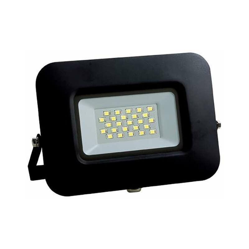 OPTONICA Projecteur LED 10W (60W) Noir Premium Line IP65 850lm - Blanc Chaud
