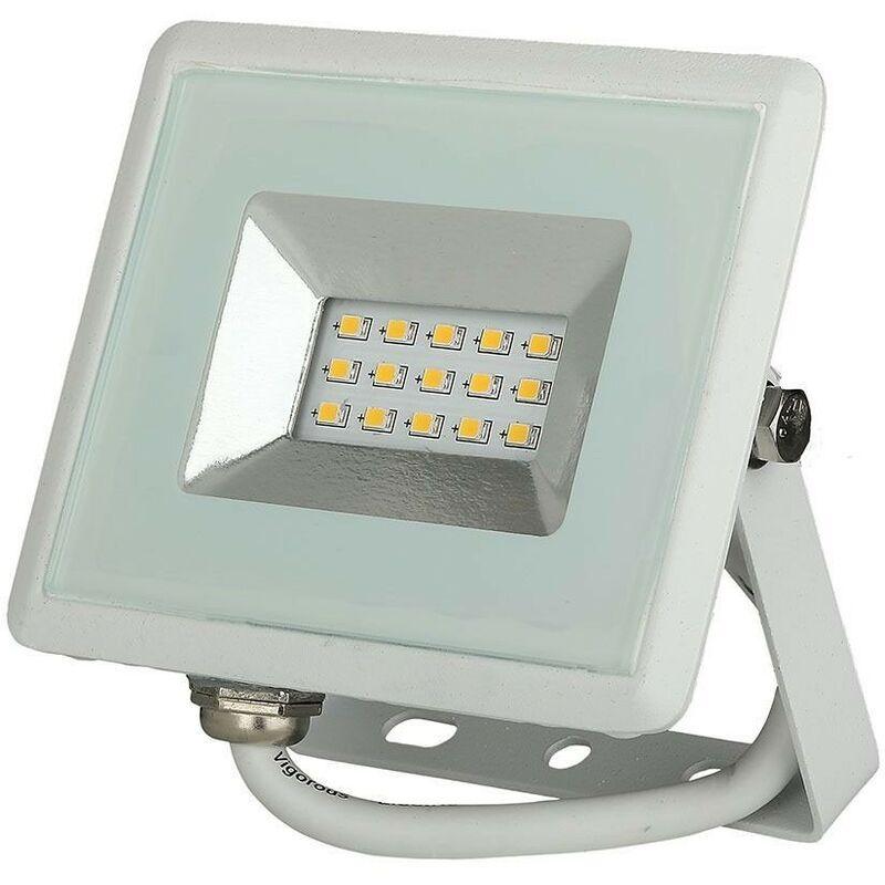 V-TAC Projecteur LED Boitier blanc 10W 850 Lumens IP65