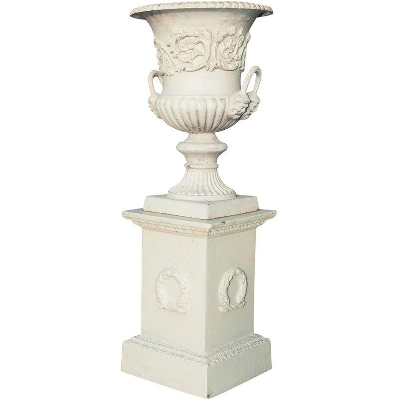 BISCOTTINI Vase diam. L44 xH62 cm avec socle L45 xPR45 xH110 cm en fonte