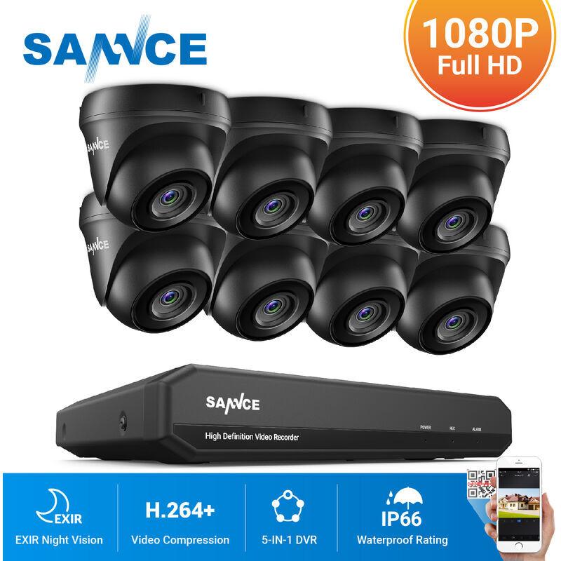 SANNCE Kit Vidéosurveillance cctv système 8CH TVI enregistreur + caméra