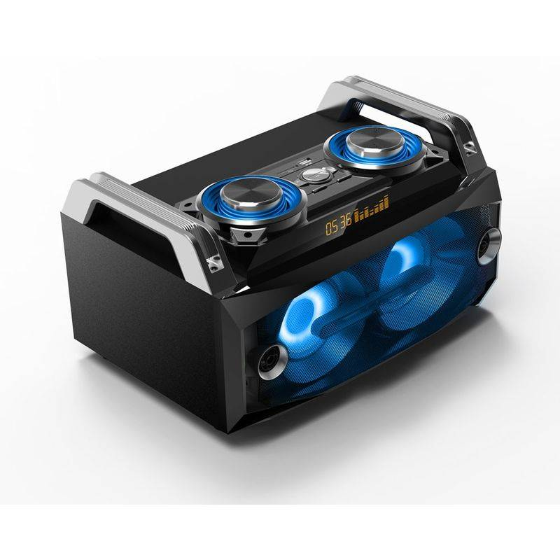 WJG INDUSTRIEVERTRETUNG Haut-parleur portable Musique LED Sound Box Système BLUETOOTH USB SD