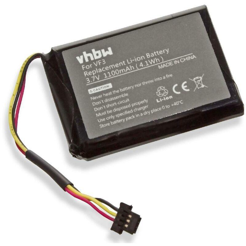 VHBW Batterie LI-ION 1100mAh pour TOMTOM TOM TOM Quanta remplace VF3,