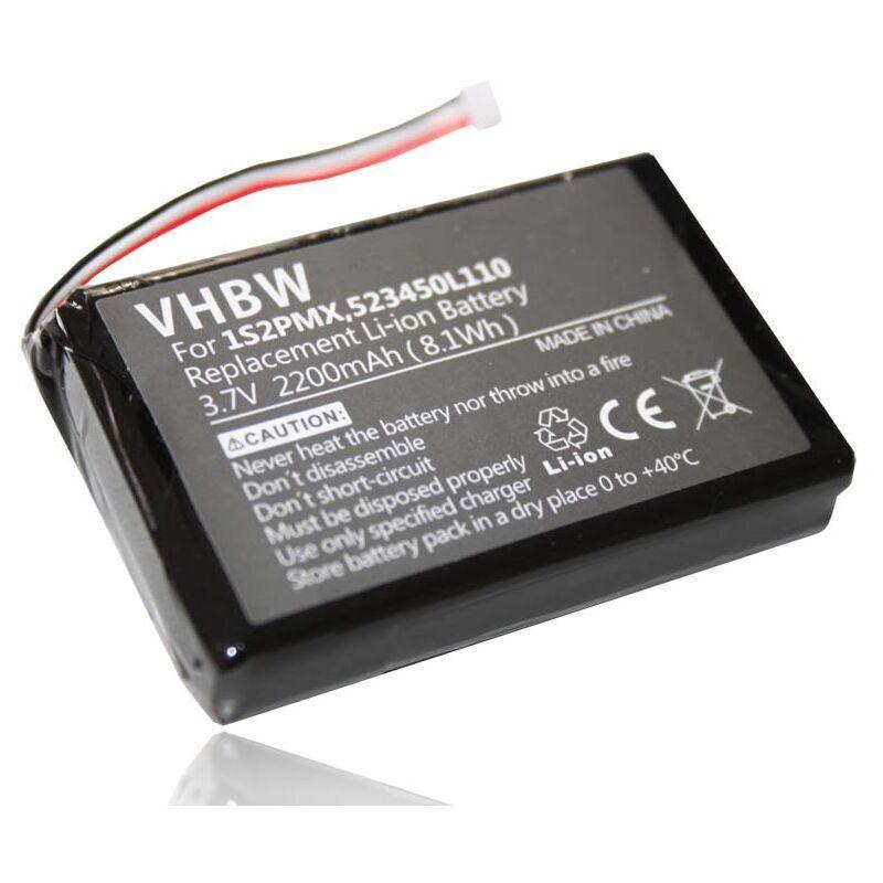 VHBW Batterie LI-ION 2200mAh compatible pour BLAUPUNKT Travelpilot 500,