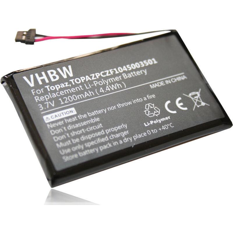 VHBW Batterie LI-POLYMER 1200mAh pour NAVIGON 70 Easy, 70 Plus, 70 Premium,