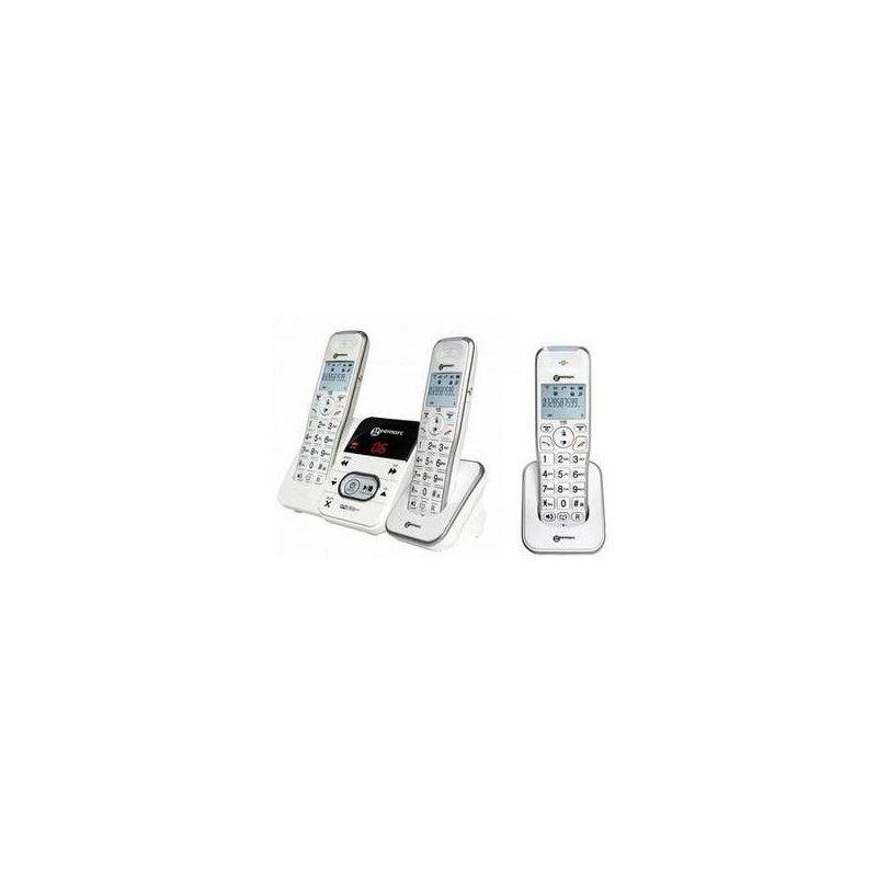 GEEMARC Téléphone Amplidect 295 trio blanc (2) - Blanc - Geemarc