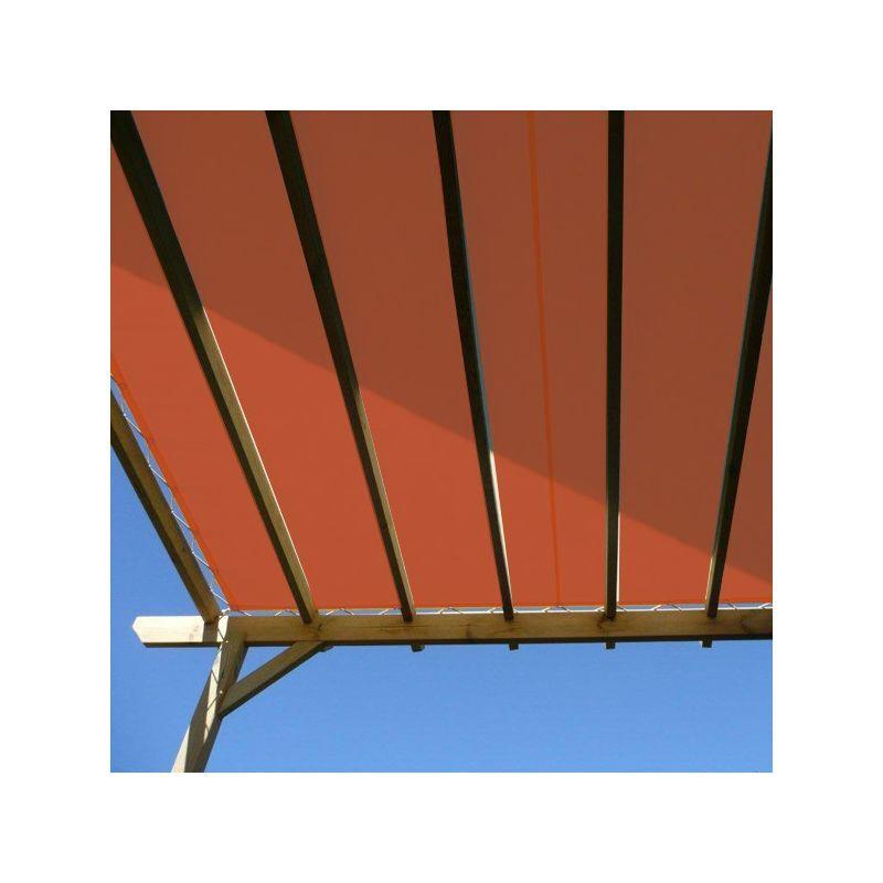 DIRECT FILET Toile d'ombrage imperméable de 4x4m à tendre sur structure pergola