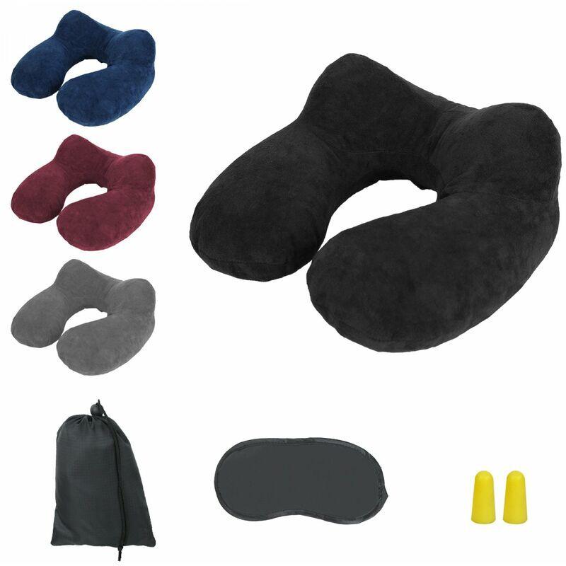 VIVEZEN Coussin, oreiller de voyage gonflable avec bouchons d'oreilles, masque