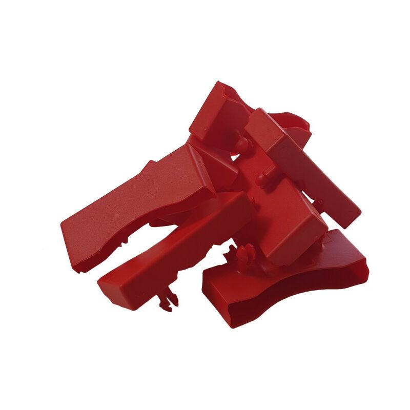 Ebac Literie - Lot de 10 embouts rouge pour lattes de 68 x 8 mm