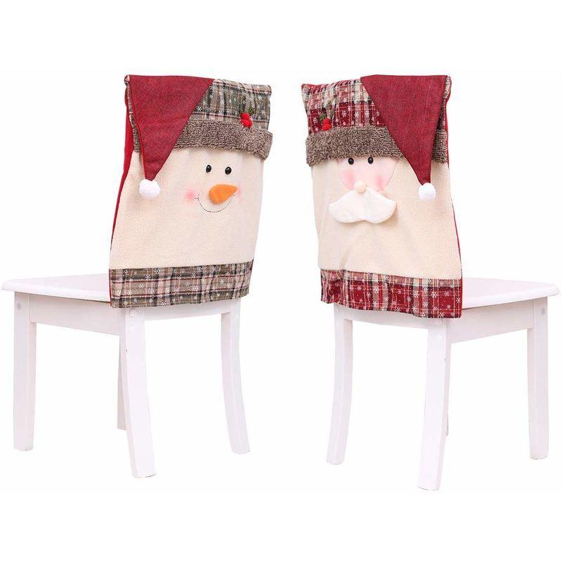ZQYRLAR Housse de chaise Santa Claus
