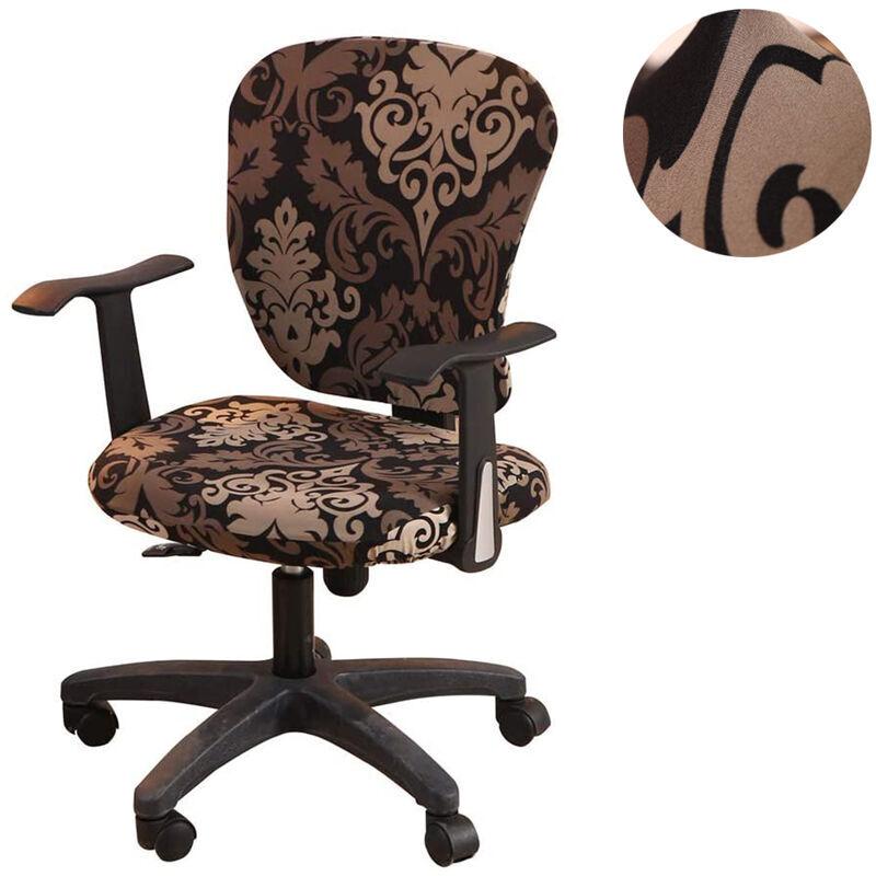 ZQYRLAR Housses de chaise de bureau d'ordinateur housses de chaise rotatives