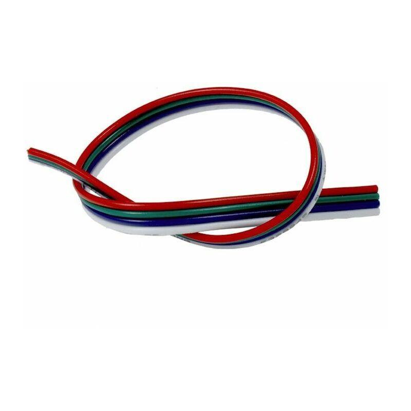 BYLED® Câble 4 fils pour ruban RGB - Rouge/Vert/Bleu/Commun au mètre