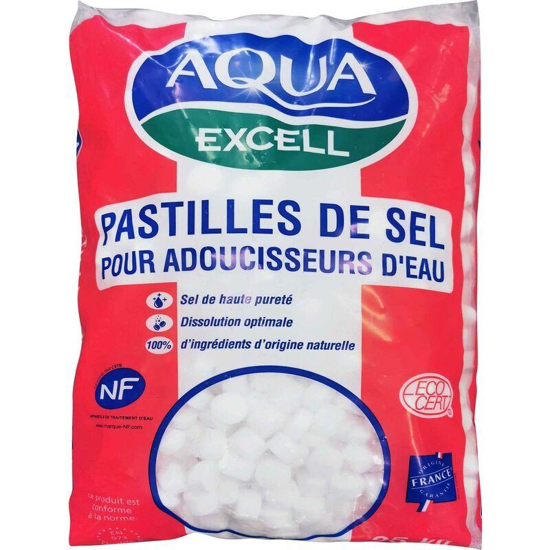 SALINS DU MIDI Pastilles de sel pour adoucisseur d'eau RESIMAX EXCELL - le sac de 25 kg
