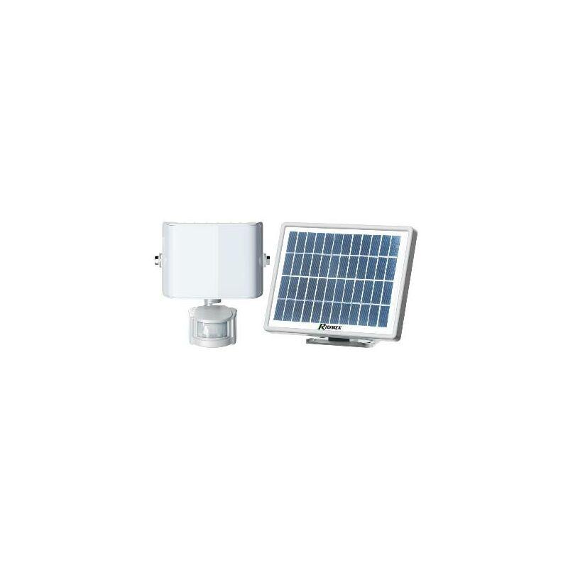 HELIOTRADE Projecteur aluminium avec detecteur de mouvement sur panneau solaire