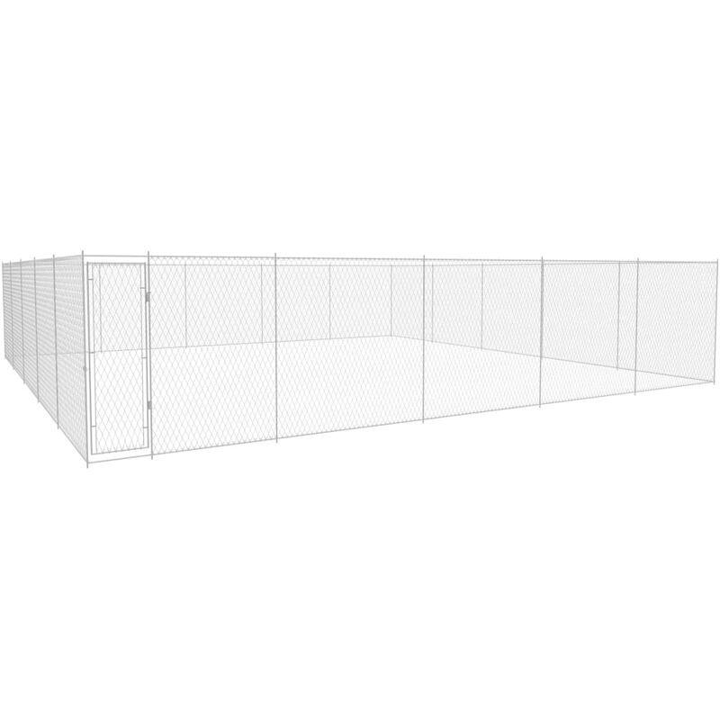Asupermall - Chenil exterieur pour chiens Acier galvanise 950x950x185 cm