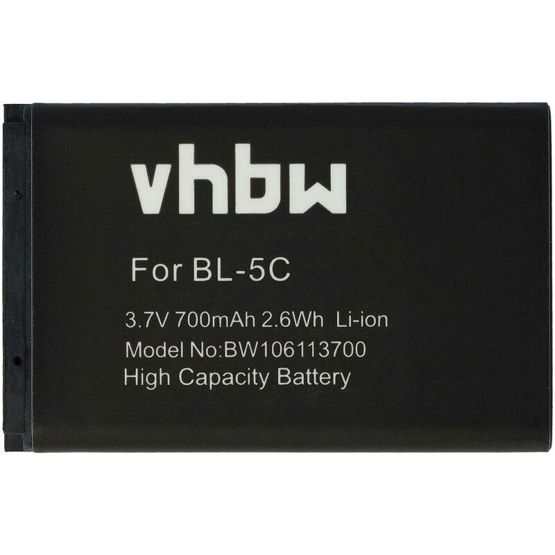 VHBW Batterie LI-ION 700mAh compatible pour Route 66 GPS etc.