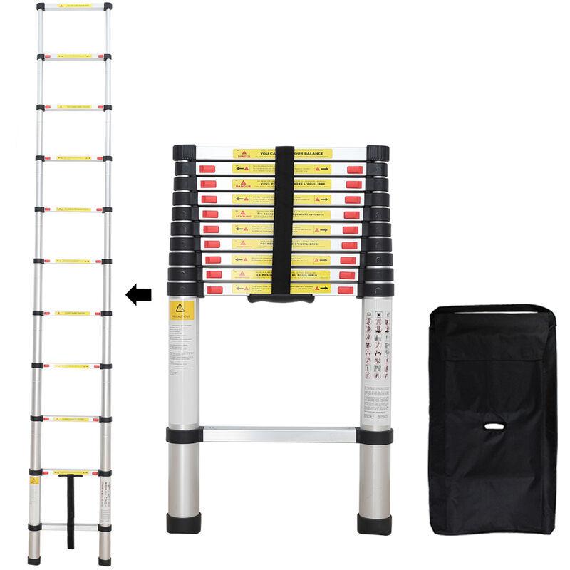 Todeco - Échelle Pliable, Echelle Telescopique, 3,2 mètre(s), Sac de