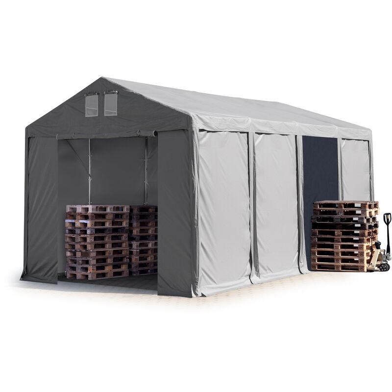 Intent24.fr - 4x8m Tente de stockage INTENT24, PVC env. 550 g/m², H. 3m