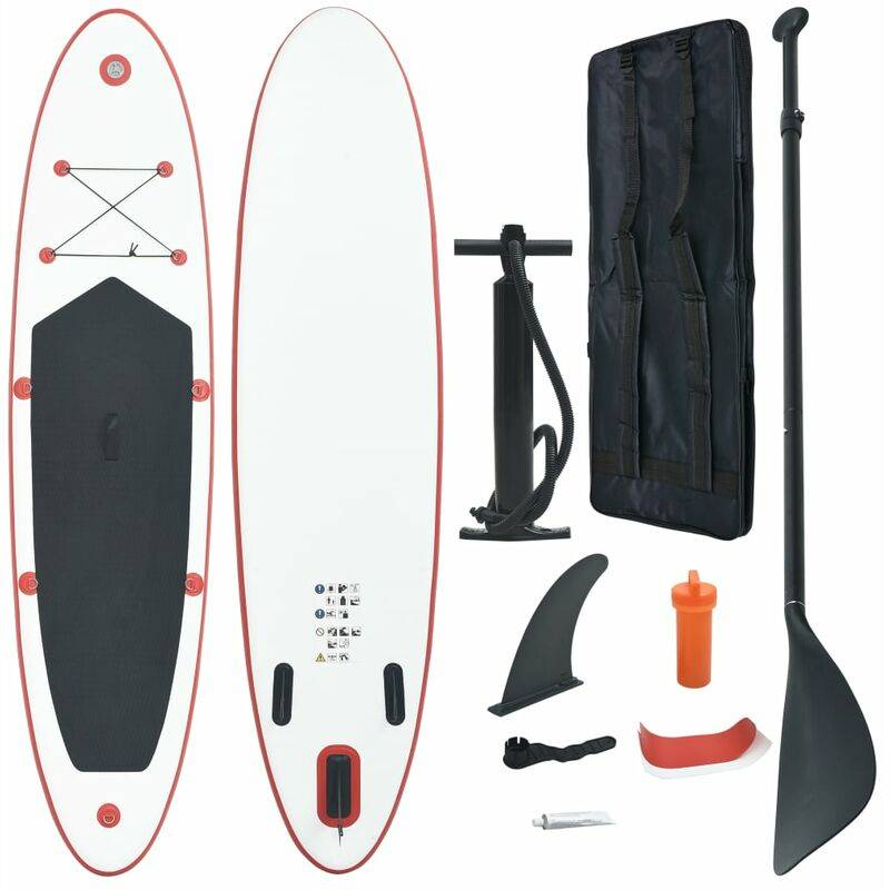 Vidaxl - Stand Up Paddle Planche à rame Rouge et blanc