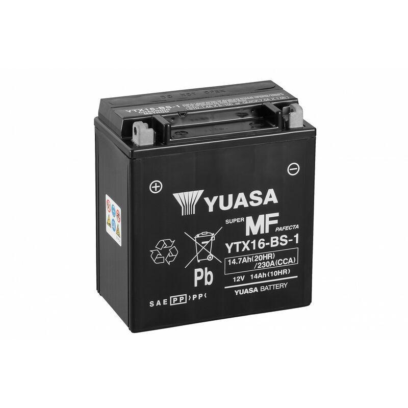 YUASA Batterie Moto Yuasa Agm Ytx16-Bs-1 12V 14Ah 230A