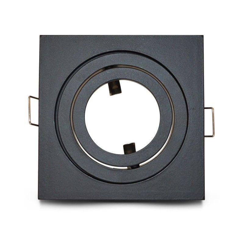 VISION-EL Support plafond pour spot LED Orientable Carré 88x88mm Finition Noir mat