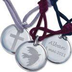 Amikado Médaille de baptême personnalisée Médaille ronde argent massif... par LeGuide.com Publicité
