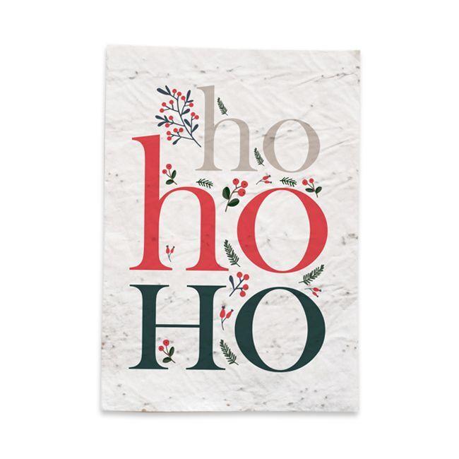 Amikado Carte de Noël HoHoHo à planter