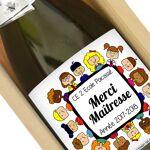 Amikado Bouteille de champagne Merci Maîtresse Elle a déjà reçu une trousse... par LeGuide.com Publicité