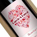 Amikado Bouteille de vin personnalisée Coeur prénom Votre bouteille de... par LeGuide.com Publicité