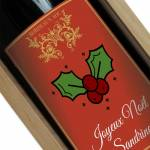 Amikado Bouteille de vin de Noël personnalisée Une étiquette de bouteille... par LeGuide.com Publicité