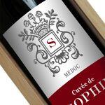 Amikado Bouteille de vin personnalisée Ecusson Votre bouteille de vin... par LeGuide.com Publicité