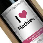 Amikado Bouteille de vin personnalisée I LOVE Votre bouteille de vin... par LeGuide.com Publicité